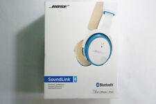 Bose SoundLink On-Ear Bluetooth Wireless White Blue Headphones Free 2-3 Day Ship