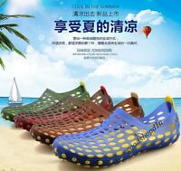 New Summer Hollow Out Breathable Water-Proof Beach Sandal Shoes Slip On Loafers