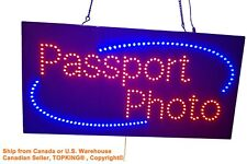 Passport Photo Sign,TOPKING Signage,LED Neon Open,Store,Window,Shop,Business