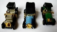 3 Vintage Diecast Classic Early 20th Century Style Toy Cars - Wolseley, Krieger