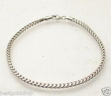 "8"" Mens Solid Italian Franco Chain Bracelet Anti-Tarnish 925 Sterling Silver"