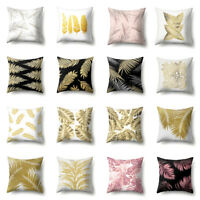 Tropical Palm Leaf Throw Pillow Case Sofa Bed Cushion Cover Home Car Decor Eyefu
