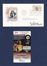 Matthew Ridgway & William Westmoreland signed First Day Cover Jsa authenticated