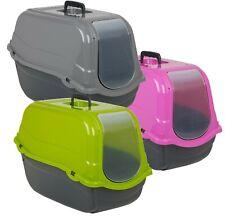 Portable Romeo Toilet House Hooded Litter Pet Carry Basket Travel Transporter