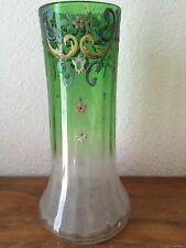 ancien  vase emaillé decor aux fleurs/ floral legras?