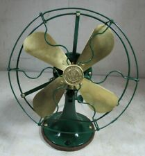 "Antique 1919/1920's GE General Electric 9"" Brass Blades Whiz Desk Table Fan"
