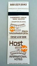 Matchbook Cover ~ HOST INTERNATIONAL HOTELS Right In The Airport Rear Strike 20