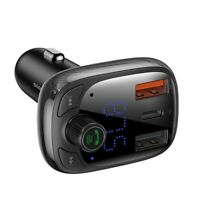 BASEUS Bluetooth Wireless Car FM Transmitter MP3 Player Kit Fast Car Charger PPS