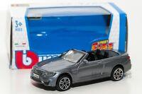 BMW M4 Convertible grey, Bburago 18-30298, scale 1:43, toy gift model boy