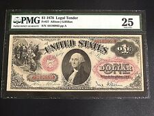 1878, $1, Legal Tender, PMG -25, Very Fine,