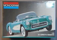 Monogram 1957 CORVETTE ROADSTER 1/24 Model Kit SEALED #OO