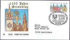 BRD 1997: Straubing 1100 Jahre! FDC Nr. 1910! Straubing-Stempel! Gelaufen! 1804