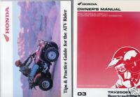 2003 HONDA ATV TRX250 & SPORTRAX 250 OWNERS MANUAL  (753)
