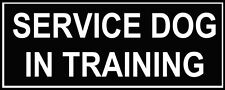 Dean & Tyler SERVICE DOG IN TRAINING Patches for Working Dog Harness or Collar