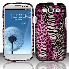 Samsung Galaxy S3 III i9300 Pink Safari Rubberized Hard Phone Case Cover