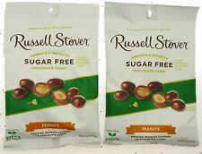 Russell Stover ~ sans Sucre ~ Chocolat Couvert Cacahuètes ~3.6oz Sac ~ Lot de 2