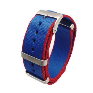20/22mm Soft Military Nylon Wrist Watch Band Straps Replacement Belt Unisex