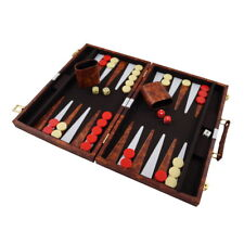 Backgammon mit Kunstleder Koffer 47,5 x 36,5 cm P-187