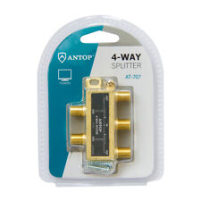 4-Way Splitter 🖖 TV 📶 Antenna 📡 Satellite Any Coaxial Cable ANTOP AT-707