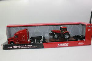 ERTL 46358 Peterbilt 579 mit Tieflader + Case Traktor 1:32 NEU in OVP