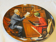 Norman Rockwell's Heritage Collection The Professor 9660B collector plate #%