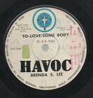 """BRENDA S. LEE THE BEE GEES Rare 70's Aust Only 7"""" OOP Havoc Single """"To Love"""""""