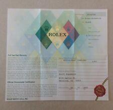 Rolex Warranty Paper Submariner 16613  (23.07)