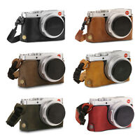 MegaGear Leica D-Lux 7 Ever Ready Genuine Leather Camera Half Case and Strap