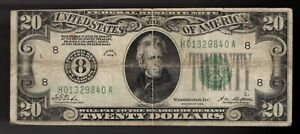 """FR. 2050-H 1928 $20 FRN """"NUMERICAL GOLD ON DEMAND"""" ST. LOUIS, MO"""