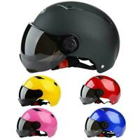 Motorcycle Helmet Half Open Face Dual Visor Scooter Unisex Helmet Motorbike T2L4