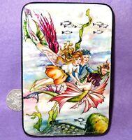 Laqueado Concha Caja Florence María Anderson Ilustración Agua Fairy Sirena