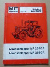 Massey Ferguson Schlepper MF2640A + MF2680A Betriebsanleitung
