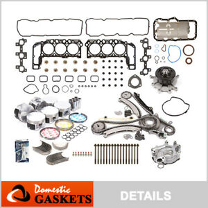 05-12 Jeep Liberty Dodge Ram Durango Dakota 3.7L Master Engine Rebuild Kit K MLS
