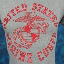 NOS vintage 80s USMC US MARINE CORPS HEATHER PAPER THIN T-Shirt XXS military