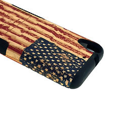 For HTC Desire 530 - HARD & SOFT TPU HYBRID CASE COVER  VINTAGE AMERICA USA FLAG