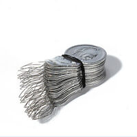 50pcs/set Silver Bow Wire Needle Threader Stitch Insertion Sewing Tool  CA12