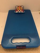 Lisa Frank Tiger Blue Glitter Clipboard Storage Container