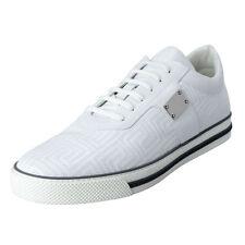 Gianni Versace Men's White Leather Fashion Sneakers Shoes US 14 EU 47