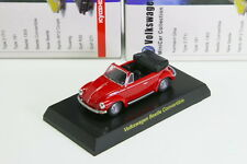 Kyosho 1/64 VW Beetle Convertible Red Volkswagen Miniature car Collection 2008
