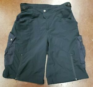 Cannondale Mens Cargo Bicycle Nylon Riding Cycling Shorts Size L Black