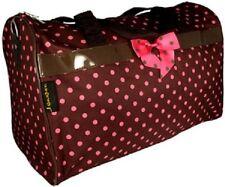 "Brown with Pink Polka Dots 19"" Duffle Bag-NWT"