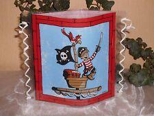 """Tischlicht/Windlicht  """"Kleiner Pirat"""" auf Schiff"""