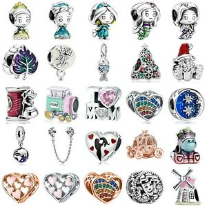 New Design European Silver Charms Bead Pendant Fit 925 Bracelets Christmas Gifts