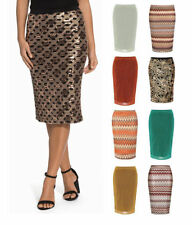 Calf Length Stretch, Bodycon Regular Casual Skirts for Women