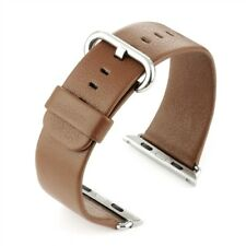 Premium Replacement Leather Strap For Apple Watch Brown 42mm