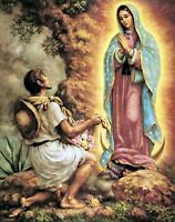 VIRGIN OF OUR LADY GUADALUPE VIRGEN del Tepeyac DE MATTED PRINT POSTER SIZE