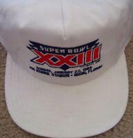 Super Bowl 23 XXIII white embroidered snapback cap hat NEW (San Francisco 49ers)