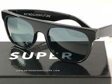 c2fb41ba54c5 RetroSuperFuture Flat Top Black POLARIZED Sunglasses SUPER 503 52mm NIB