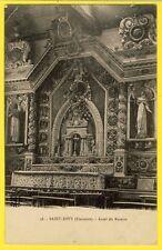 cpa Rare Bretagne SAINT DIVY (Finistère) Intérieur de l'Eglise AUTEL du ROSAIRE