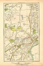 1933 LONDON MAP-ISLEWORTH, HOUNSLOW, TWICKENHAM, STRAWBERRY HILL, ST MARGARET'S